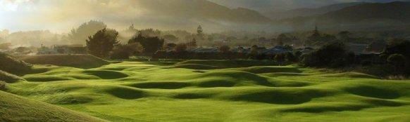 """""""Hobbit""""-Kulisse Neuseeland (hier der Paraparaumu Beach Golf Club): in Wahrheit haben die Auenländer Golf erfunden. (Foto: Paraparaumu BGC)"""